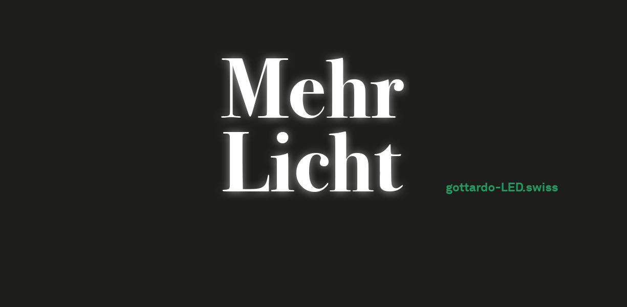 Mehr Licht. LED-Stehleuchte gottardo Serie H