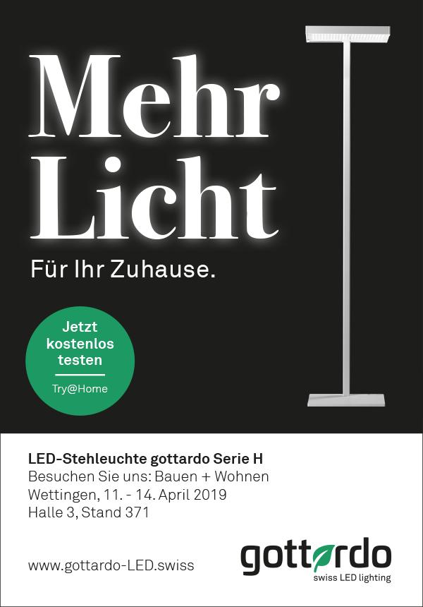 LED-Stehleuchte gottardo Serie H